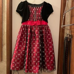2/$40 Love Girls Size 14 Christmas dress Red EUC